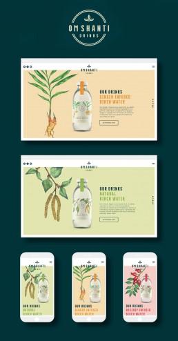 Om Shanti Drinks Brand Design by Magenda Alieu