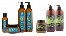 Argan Oil, Macademia Oil branding